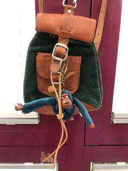 Retro Kinderrucksack aus Leder