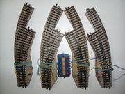1 Märklin H0 M-Gleis Bogenweichen