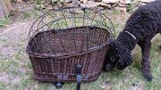 Hundekorb für den Fahrrad Gepäckträger