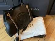 Gucci echte schwarze Ledertasche in