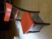Holz Stühle in Rot Schwarz