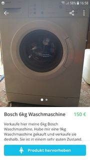 Bosch Waschmaschine 6kg