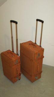Lederkoffer Set Trolley Koffer Set
