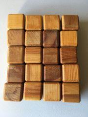 Holzbausteine quadratisch natur