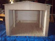 Spielscheune Garage aus Holz zum