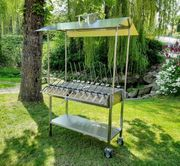 ABVERKAUF To-Go-Stand-Cateringgrill-Steckerlfisch Grillstation