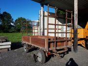 Holz Brückenwagen Zwei Achs Hänger