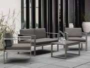 Gartensofa Aluminium 2-Sitzer Auflagen dunkelgrau