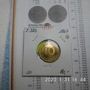 D-Mark 10 Pfennig 1967 G