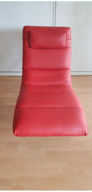 Rote leder liege sessel relax