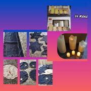 Kerzen und Deckchen