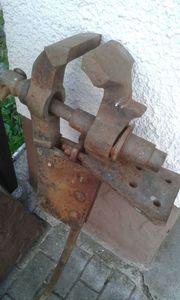 antiker Feldschraubstock Schraubstock Loft Vintage