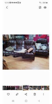 Zu verschenken Echtleder Sofa