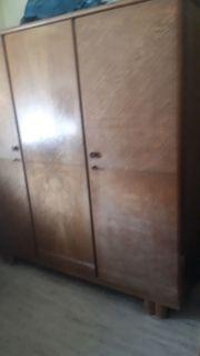 Schlafzimmerschrank Schrank dunkles Massivholz