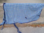 Stalldecke Decke blau kariert 165