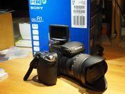 Sony Cyber-Shot DSC-R1 mit Blitz