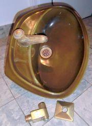 Handwaschbecken bronziert mit vollständigen Armaturen