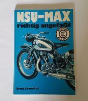 Buch NSU MAX richtig angefasst -