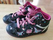 Skechers schwarz pink türkis Lack