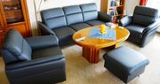 Ledergarnitur Dickleder Polstergarnitur 3-Sitzer Couch