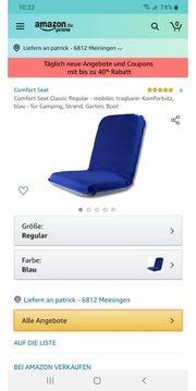 Tragbarer Bootssitz
