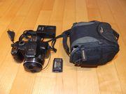 Superzoom-Kamera Panasonic FZ150 mit Zubehör