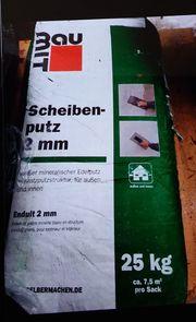 Verkaufe 4 Sack Scheibenputz 25