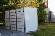 Mülltonnenbox Eleganza Line für drei