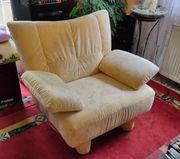 Gelbe Couchgarnitur Zweisitzer Sessel zu