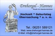 Leierkastenmann Hochzeit Geburtstag Drehorgel Musik