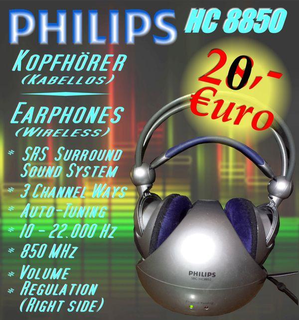 FUNK-KOPFHÖRER PHILIPS HC 8850 Gebraucht