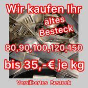 Besteck versilbert bis 35 Euro