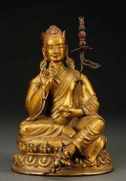 Chinese Tibet Bronze Gilt Buddha