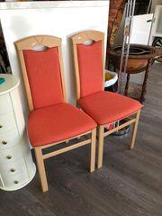 2x Hochlehner Stuhl orange Esszimmerstuhl