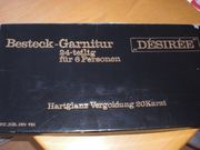 Besteck-Garnitur für 6 Personen Hartglanzvergoldung
