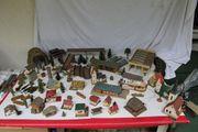 Modelleisenbahn Gebäude Häuser Bäume Sträucher