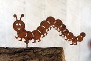 Gartenfigur Edelrost Tausendfüßler
