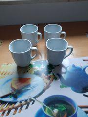 4 große Kaffeetassen