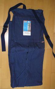Berufsbekleidung Latzhose Größe 65 blau