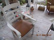 2x ältere weiss angestrichenen Stühle