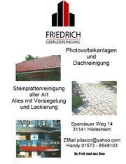 Gebäudereinigung Dach Terasse Steinplatten Fassaden