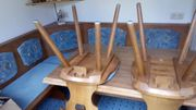 Eckbank ausziehbarer Tisch 3 Stühle