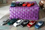 10 Welly Blechspielzeug Autos
