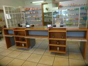 Handverkaufstisch Verkaufstisch hochwertig Schreinerarbeit massiv