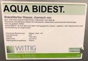 AQUA BIDEST bidestilliertes Wasser chemisch