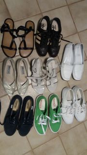Schuhe Konvolut Damenschuhe Sandalen Geox