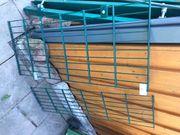 Doppelstabgitterzaun mit 2flgl Toranlage moosgrün