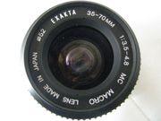 EXAKTA Kamera Objektiv 35-70mm 1