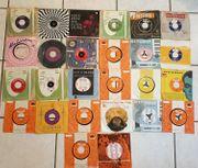 Sammlung Singles 45 rpm Schallplatten