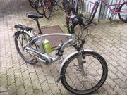 Verkaufe silberfarbenes E-bike Marke Flyer
